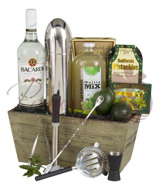 Mojito Time Rum Gift Basket