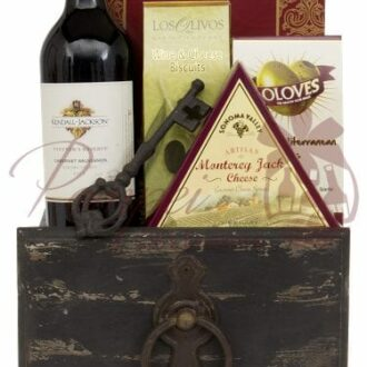 Sophisticated Snacking Wine Gift Basket