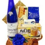 Something Blue Wine Gift Basket