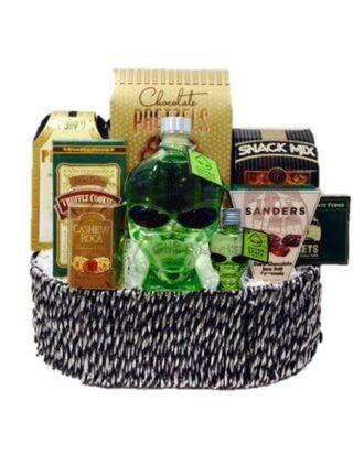 The Great Abduction Vodka Gift Basket, Alien Head Vodka, Outerspace Vodka, Alien Gift Basket, Vodka Gift Basket, Alien Head Gifts