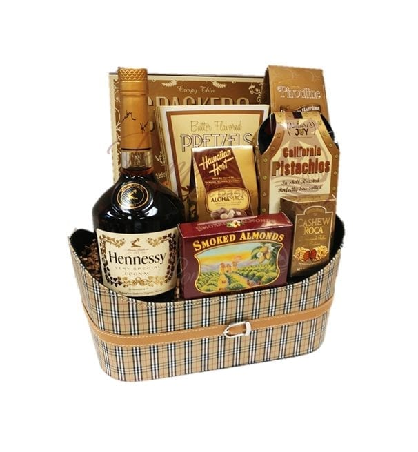 Hennything is Possible Cognac Gift Basket, hennessy Gifts, hennessy gift basket, henny gifts