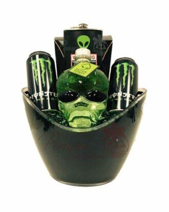 Space Jam Vodka Gift Basket, Alien Head Gift Basket, Space monster drink, Alien Gift Basket, Outerspace Vodka, Outer space vodka