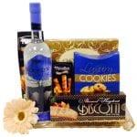 The Sweetest Ending Vodka Gift Basket, Brooklyn Vodka, Brooklyn Vodka Gifts, Brooklyn Gift Baskets, New York Gift Baskets, Blueberry Coconut Vodka,