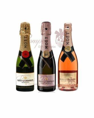 Moet & Chandon Quarter Bottle Trio, Moet Mini Bottles, Moet Quarter Bottles, Moet Chandon Mini, 187ml Moet, Champagne 187ml, Mini Champagne Bottles