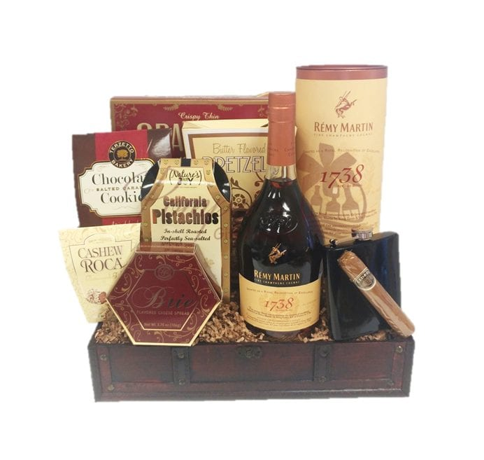 Handsome Day Off Cognac Gift Basket