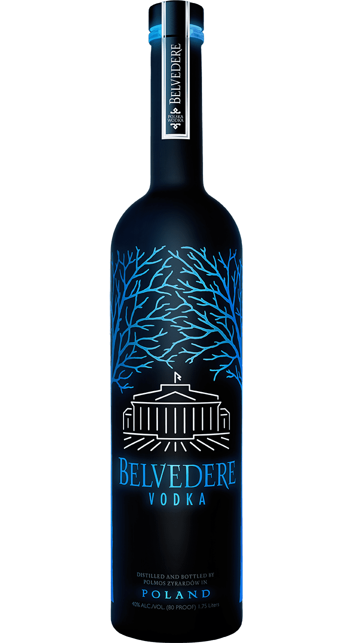 Belvedere Midnight Saber Luminous Bottle From Pompei Baskets