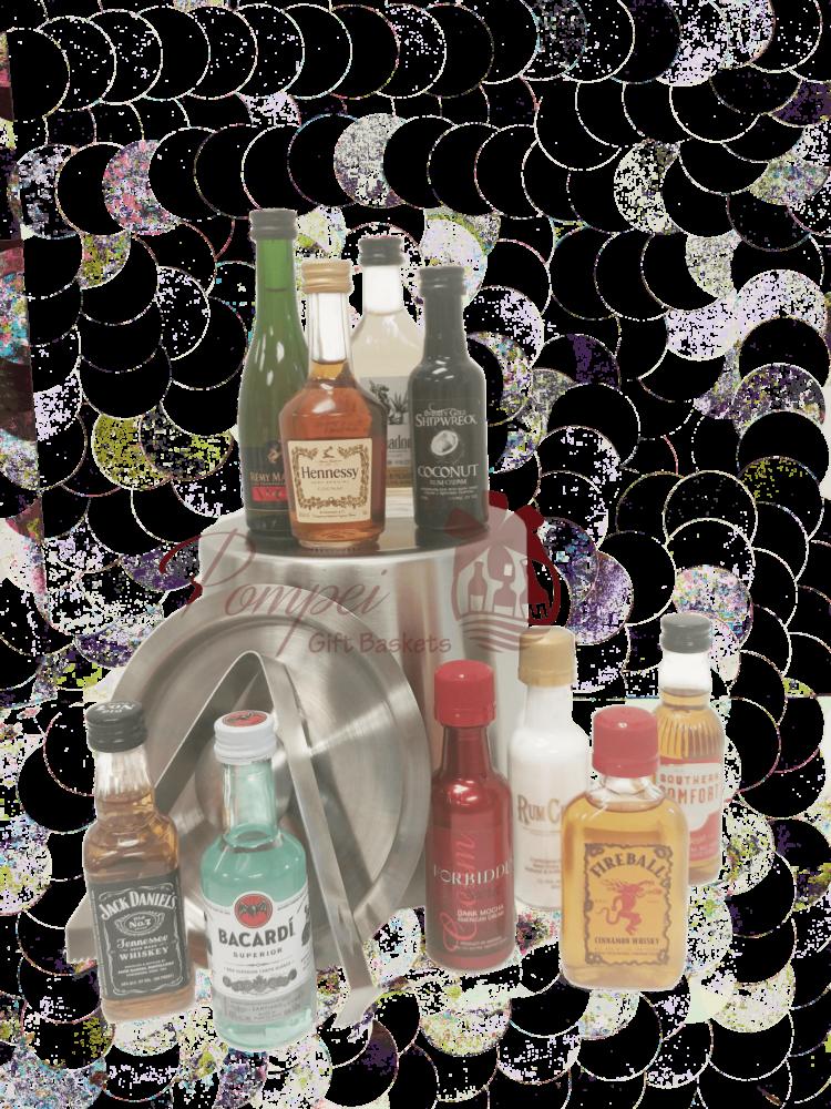 Premium Mini Bar Liquor Gift Basket, 21st Birthday Gift, 50ml gift basket, mini bar gift basket, nips gift basket, mini liquor bottle basket, airplane bottle gift basket