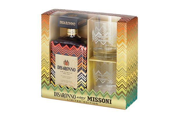 Disaronno wears Missoni 2017 Holiday Gift Set, Disaronno wears Missoni 2017 Holiday Glass Set, Disaronno wears Missoni, Disaronno Gift Set, Disaronno Amaretto Set, Disaronno Gifts, Dissarono wears Missoni