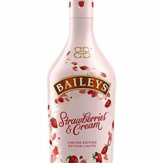 Baileys Strawberry Cream Liqueur, Baileys Strawberry Cream Irish Cream Liqueur, Baileys Strawberry Cream, Baileys Strawberries and Cream, Pink Baileys Bottle, Limited Edition Baileys, Strawberry Baileys, Valentines Day Baileys, Engraved Baileys, Baileys Gift Basket