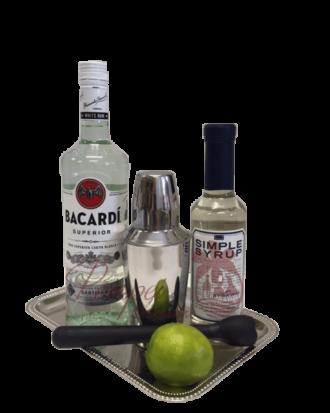 Simply Superior Rum Gift Basket, Bacardi Gift Basket, Bacardi Gift Set, Send Bacardi Online, Mojito Gift Basket, Mojito Gift Set, Rum Mojito Gifts
