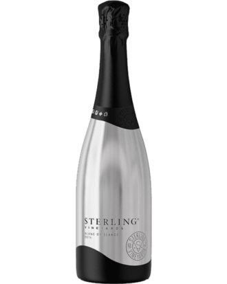 Sterling Vineyards Blanc de Blancs, Sterling Silver Bottle, Engraved Sterling Wine, New Sterling Champagne, Sterling Sparkling Wine