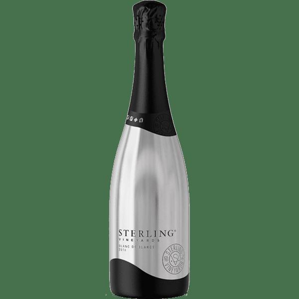 Sterling Vineyards Blanc de Blancs, Sterling Silver Bottle, Engraved Sterling Wine, New Sterling Champagne, Sterling Sparkling Wine