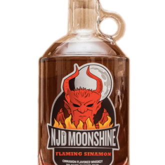 Claremont NJD Flaming Sinamon Moonshine, new Jersey Moonshine, Weird NJ Liquor, Weird NJ Magazine, NJ Moonshine, New Jersey Devil Moonshine, Jersey Devil Moonshine, Cinnamon Moonshine, Fireball Moonshine, White Whiskey
