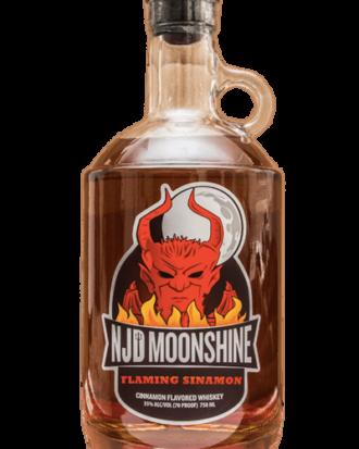 Claremont NJD Flaming Sinamon Moonshine, new Jersey Moonshine, Weird NJ Liquor, Weird NJ Magazine, NJ Moonshine, New Jersey Devil Moonshine, Jersey Devil Moonshine, Cinnamon Moonshine, Fireball Moonshine, White Whiskey