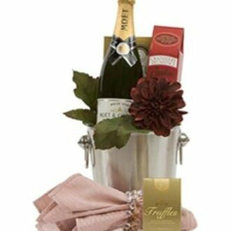 Classic Congratulations Champagne Gift Basket, Moet Gift Basket, Engraved Moet Gifts, Moet Gifts NJ