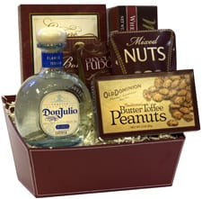 Don You Touch My Tequila Gift Basket, Don Julio Gift Basket, Engraved Don Julio Gifts, Tequila Gift Baskets