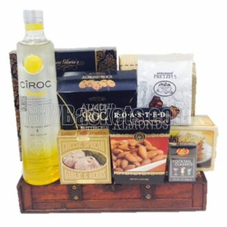 Crowning Moments Vodka Gift Basket, ciroc gift basket, ciroc pineapple gift basket, ciroc gifts, engraved ciroc,