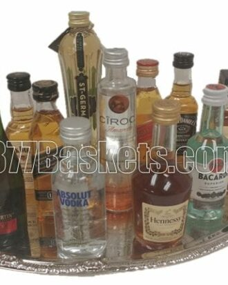 Cheaper by the Dozen Mini Bar Gift Basket, Mini Bar Gifts, 50ml gift basket, mini liquor gift, mini bar, 21st birthday gifts, send 21st birthday gift