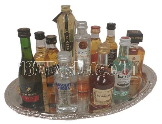 Cheaper by the Dozen Mini Bar Gift Basket, Mini Bar Gifts, 50ml gift basket, mini liquor gift, mini bar, 21st birthday gifts, send 21st birthday gift