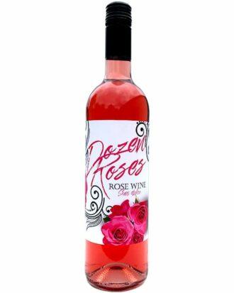 Dozen Roses Pink Wine, order Dozen Roses Wine Online, Buy Dozen Roses Wine, Send Dozen Roses Wine, Engraved Rose Wine