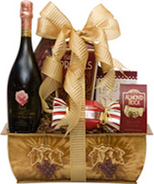 Better than Roses Spumante Gift Basket, Petalo Moscato Spumante engraved, Petalo Moscato Spumante gift basket, sparkling wine gift baskets nj, nj gift baskets, moscato gift baskets, birthday gift baskets for her