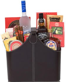 Gentleman's Party Liquor Gift Basket, crown royal gift basket, grey goose gift basket, jack daniels gift basket, fathers day gift basket, husband birthday gift, grandpa birthday gift