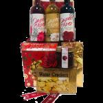 Dozen Roses Wine Gift Basket