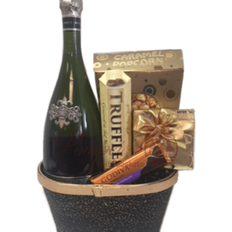 Segura Viudas Sparkling Wine Gift Basket, Segura Viduas Engraved, Engraved Segura Viudas, Pompei Gift Baskets, Sparkling Wine Gift Basket, Wine and Chocolate Gift Basket, Engagement Gift Baskets
